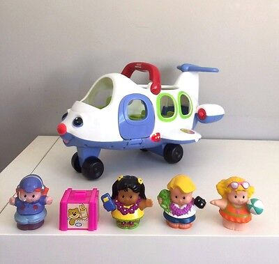 Fisher Price Little People Lil Mover Airplane Plane Pilot