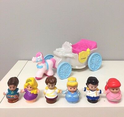 Fisher Price Little People Disney Princesses Couch Cinderella Rapunzel Ariel