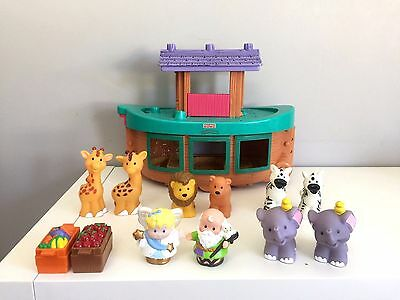 Fisher Price Little People Noah's Arc Ark Animals Boat Playset