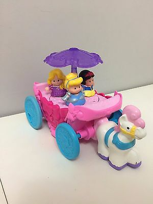 Fisher Price Little People Disney Princess Couch Cinderella Rapunzel Snow White