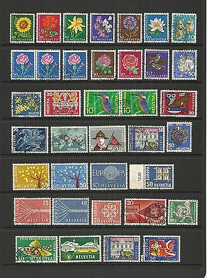 Switzerland ~ Small Mid-Modern Collection (Postally Used)