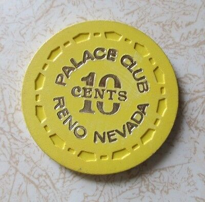 Obsolete, Palace Club Reno $.10 Casino Chip, Excellent