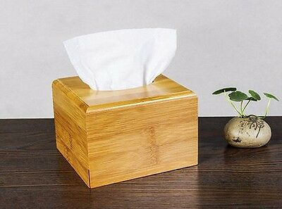 Natural bamboo tissue box holder container bamboo storage choice home, car handy