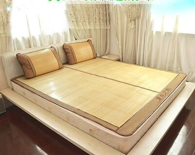 Bamboo bed mat cool mat foldable both size mat sheet rug floor mat  双面折叠原色竹席凉席