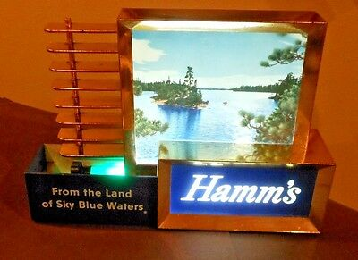 Vintage Hamm's Beer Back Bar Lighted Sign- very nice!