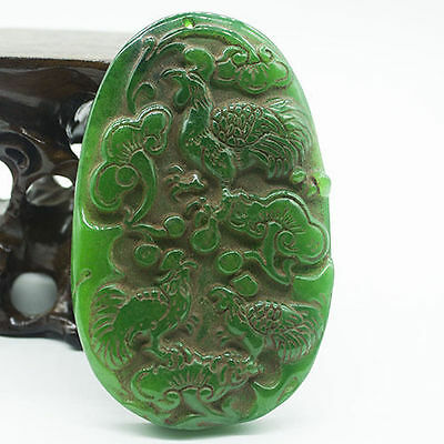 Details about  about Chinese Seiko Old Jade rooster Meaning auspicious @22