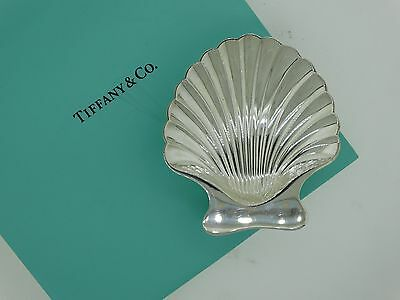 Tiffany & Co Scallop Clam Shell Trinket Dish Sterling Silver Candy Retail $675
