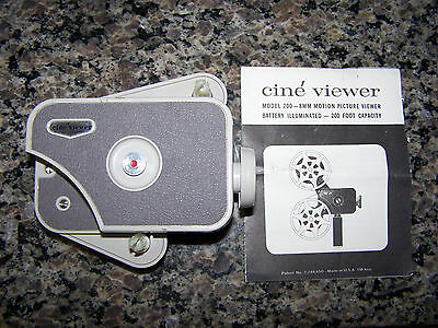 CINE VIEWER 8MM MOTION PICTURE VIEWER IN BOX 200 Feet Capacity Vintage