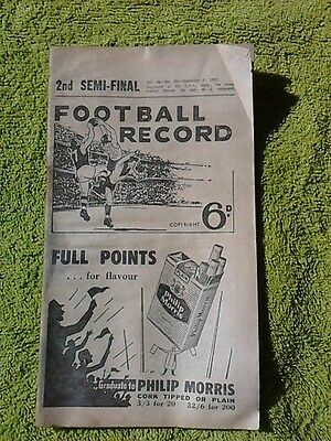 1957 2nd Semi Final Football Record - Melbourne v Essendon