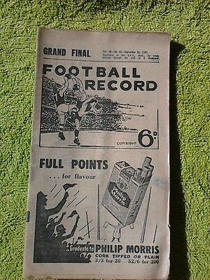 1957 Grand Final Football Record - Essendon v Melbourne