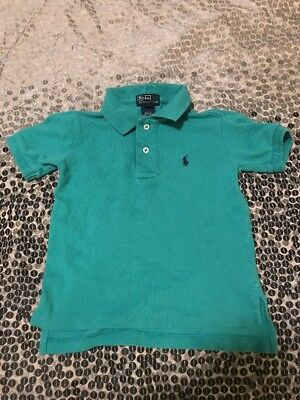 Toddler Boys Polo Ralph Lauren Teal Green Polo Shirt Size 2t