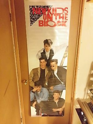 VINTAGE SEALED ORIGINAL NEW KIDS ON THE BLOCK Door Poster NKOTB 1989