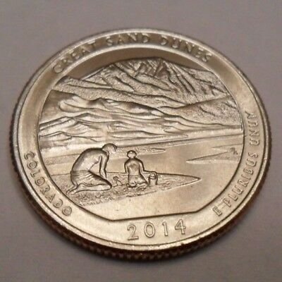 2014 D Great Sand Dunes Quarter  **FREE SHIPPING**