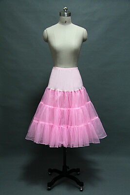 US 3 Layers Pink Bridal Petticoat Crinoline Underskirt Hoop/Mermaid Ball Gowns