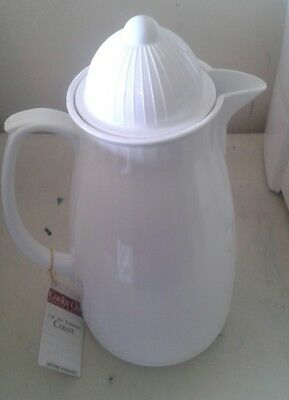 New Cooks Club 1 Quart Thermal White Carafe w/ Screw on top