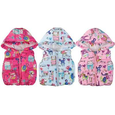 Kids Baby Girl Cotton Gilet Vest Casual Coat Hooded Jacket Outwear Waistcoat Top