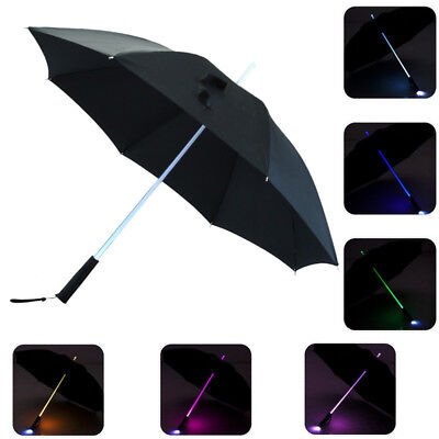 Hot LED Lightsaber Umbrella Light Up with 7 Color Changing On the Shaft BO