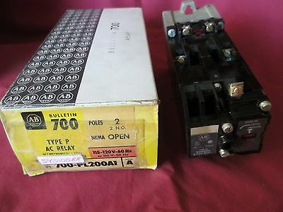 Allen Bradley 700-PL200A1 Ser A, Type P, AC Relay, 2 Poles, Mechanical Latch