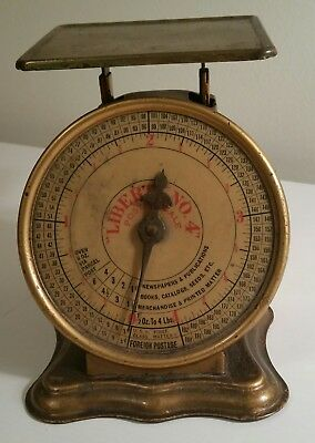 Antique Postal Scale Triner Liberty No. 4   - 1906 Patent Very Good Condition!