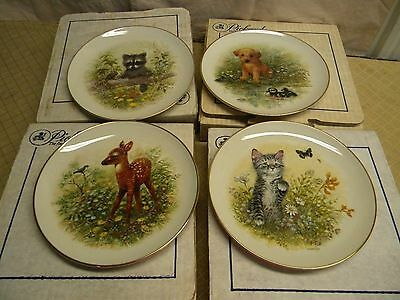 Set of 4 Vintage Collector plates Innocent Encounters Series by Joseph Giordano