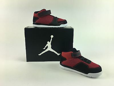 Jordan FLTCLB 90s-Boys-Toddler-Size 7c Black/Red  (602663 601) NEW IN BOX
