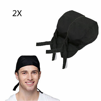 2XCool Men Women Fashion Chef Hats Catering Baker Waiter Kitchen Cook Caps Black