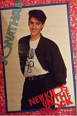 "NEW KIDS ON THE BLOCK NKOTB JONATHAN 1989 Poster 34X22""  Vintage Funky"