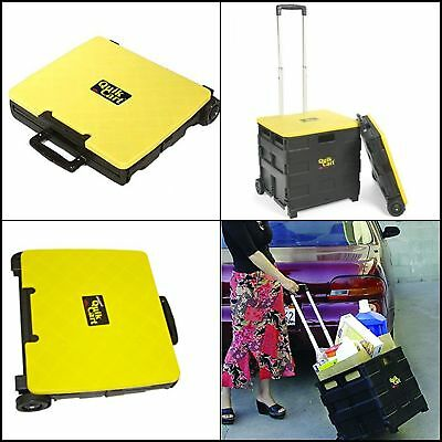 Grocery Cart On Wheels Folding Cover Handle Seniors Portable Storage Rolling NEW