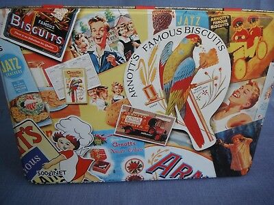 Arnott's Advertising Collage Biscuit Tin - Rare