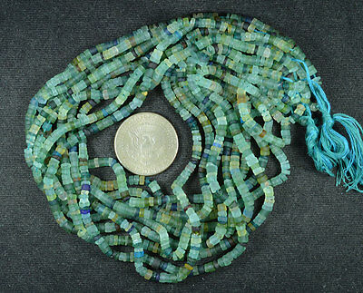 Ancient Roman Glass Heishi Beads 1 Strand 100- 200 Bc 654