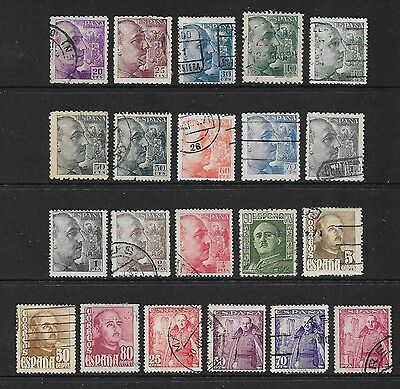 SPAIN - mixed collection, 1939-1948, early General Franco, No.2