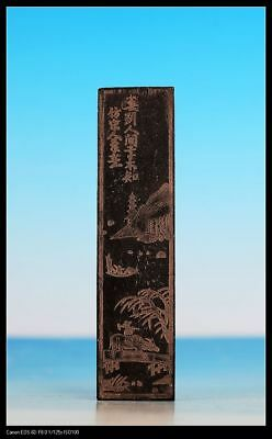Exquisite Rare Antique Chinese Carved Black Ink Sticks US054