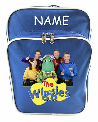 Littlies Kids Children Boys Blue The Wiggles School Backpack Bag With Name-1