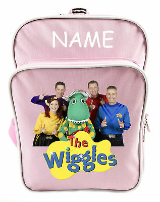 Littlies Kids Children Girls Pink The Wiggles School Backpack Bag With Name-1