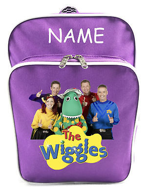Littlies Kids Children Girls Purple The Wiggles School Backpack Bag With Name-1
