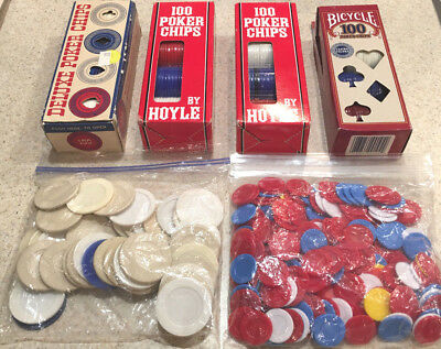 Poker Chips 453 Assorted Unbreakable Noiseless Stackable Washable+100 Small Chip