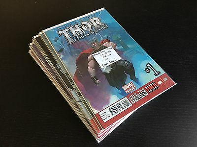 Thor God of Thunder (2013, Aaron/Ribic) 1-23 & 25 (missing 24) NM High Grade run
