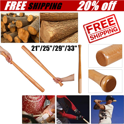 Solid Wooden Baseball Bat Bit Hardwood Bats Outdoor Sports Fitness Equipment T3
