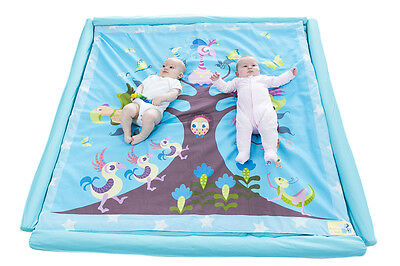 Brand New Australian Designer Large Cotton Baby Play Mat-Tree, Birds & Butterfly