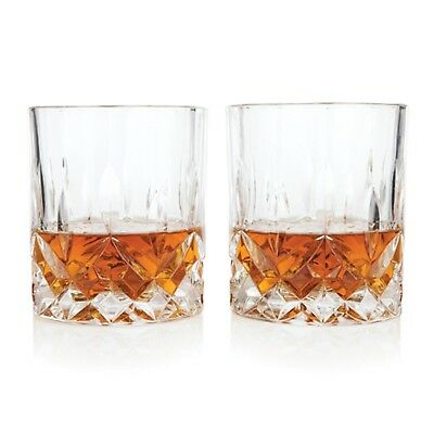 NEW VISKI ADMIRAL CRYSTAL GLASSES SET 2 Lead Free Alcohol Tumbler Scotch Whisky