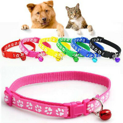 Small Footprint With Bell Pet Collar Lovely Cat And Dog Nylon Fabric Puppy