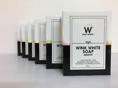 Wink White Soap, Glutathione, ***NEW*** Rejuvenating, Skin Whitening, (6 x 80g)