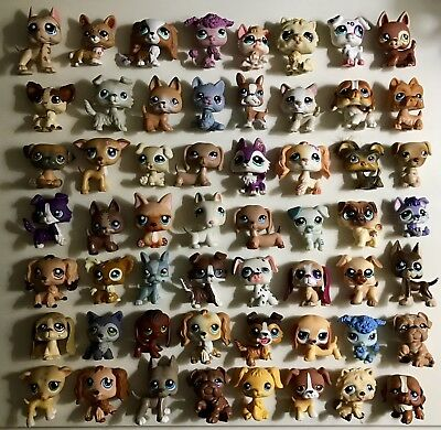 🐶Littlest Pet Shop🐶 AMAZING DOG LOT 56 Dogs ✨RARES!!!✨Great Variety✨MUST SEE