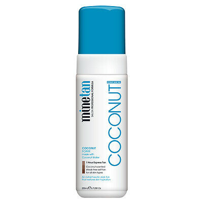 MineTan Coconut Foam, with Coconut Water, 1 Hour Express Tan, 200mL