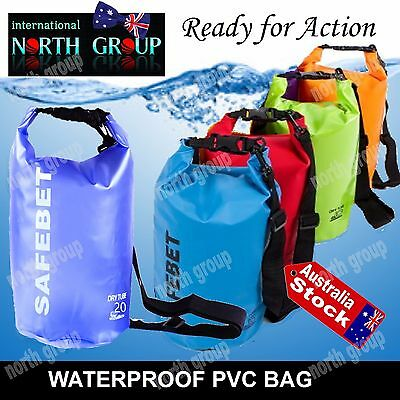 Large 20L Waterproof Backpack, Beach Bag For Water Sports Boating Fishing Raftin