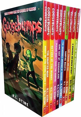 R L Stine Goosebumps Series 10 Books Collection One Day at Horrorland Set NEW UK