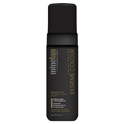 MineTan Absolute Foam Extreme Colour 1H Express Tan 200mL Bronze Moisturising