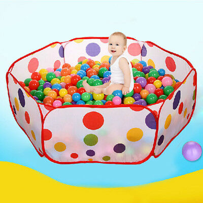 1.5M Portable Kids Outdoor Pop Up Play Tent Tunnel Castle House Ball Pit Toy AU