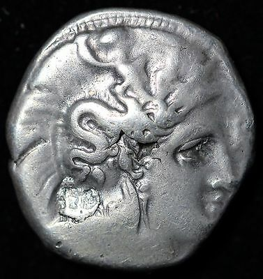 Lucania, Heracleia Ancient Greek Ar Stater 335-300 Bc.