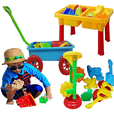 Sand Water Play Set Sandpit Mill Indoor Outdoor Wagon Accessories Boys Girls New